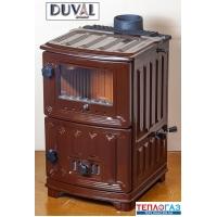 Дровяная печь-камин DUVAL EM-204 F буржуйка