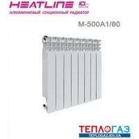 Алюминиевый радиатор отопления Heat Line M-500A1/80