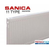 Радиатор стальной Sanica TYPE 11 H 500 L=400 боковое подключение