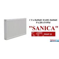 Радиатор стальной Sanica TYPE 22 H 500 L=400 боковое подключение