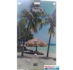 Газовая колонка Matrix JSD 20 стекло Пляж МТ-3 проточный газовый водонагреватель